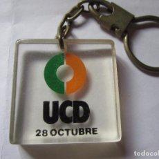 Coleccionismo de llaveros: LLAVERO UCD 28 OCTUBRE. Lote 88825780