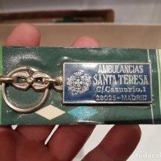 Coleccionismo de llaveros: LLAVERO AMBULANCIAS SANTA TERESA NUEVO PRECINTADO. Lote 91555960
