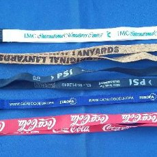 Coleccionismo de llaveros: LOTE DE 5 LANYARD . Lote 97091387