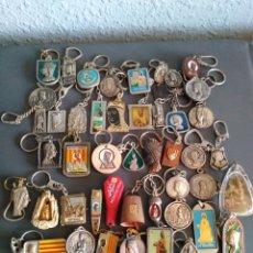 Coleccionismo de llaveros: LOTE 50 LLAVEROS VIRGEN DE MONTSERRAT,TODOS DIFERENTES. MORENETA. Lote 98547468