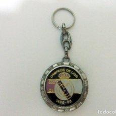 Coleccionismo de llaveros: LLAVERO REAL MADRID CAMPEÓN DE LIGA 1985 - 86 CLUB DE FÚTBOL ESCUDO EQUIPO DEPORTE 1986 . Lote 98787851