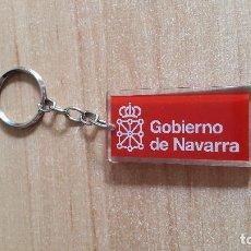 Coleccionismo de llaveros: LLAVERO GOBIERNO DE NAVARRA - METACRILATO - IGUAL POR AMBAS CARAS. Lote 99481931