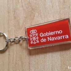 Coleccionismo de llaveros: LLAVERO GOBIERNO DE NAVARRA - METACRILATO - IGUAL POR AMBAS CARAS. Lote 100033679