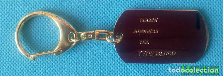 Coleccionismo de llaveros: LLAVERO DE LATÓN. PLACA DE IDENTIFICACIÓN. Dorado. Años 80-90. Fabricado en Japón. - Foto 4 - 102262075