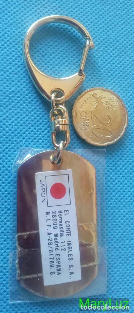 Coleccionismo de llaveros: LLAVERO DE LATÓN. PLACA DE IDENTIFICACIÓN. Dorado. Años 80-90. Fabricado en Japón. - Foto 5 - 102262075