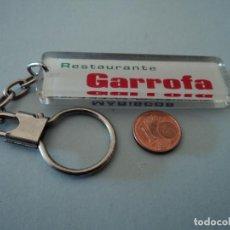 Coleccionismo de llaveros: LLAVERO RESTAURANTE GARROFA VALENCIA. Lote 103746455