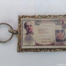Coleccionismo de llaveros: LLAVERO DEL DNI FRANCISCO FRANCO BAHAMONDE. Lote 107261059