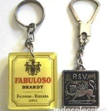 Coleccionismo de llaveros: LOTE DE LLAVEROS - BRANDY FABULOSO - LLAVERO PUBLICIDAD - BEBIDA - UNO DE ELLOS ES ANTIGUO. Lote 112762899
