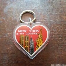 Coleccionismo de llaveros: LLAVERO NUEVA YORK: NEW YORK IS FOR LOVERS. ANTERIOR AL 11 DE SEPTIEMBRE 2001. Lote 113243040