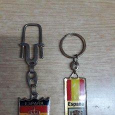 Coleccionismo de llaveros: 2 LLAVEROS ESPAÑA. Lote 113273791