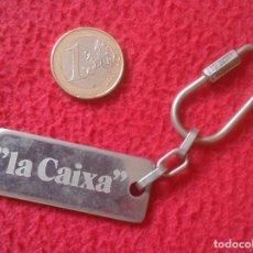 Coleccionismo de llaveros: LLAVERO KEYRING KEYCHAIN PORTE-CLÉS LA CAIXA BARCELONA CATALUNYA CATALUÑA, BANCOS, CAJAS.... CAJA VE. Lote 113558607