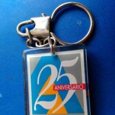 Coleccionismo de llaveros: LLAVERO PUBLICIDAD 25 ANIVERSARIO BANCO DE ALICANTE.. Lote 114816055