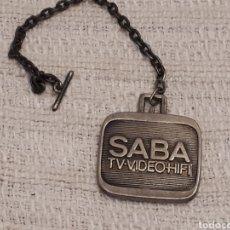 Coleccionismo de llaveros: LLAVERO PUBLICIDAD SABA. Lote 115379307