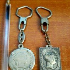 Coleccionismo de llaveros: 2 LLAVEROS FILATERIA-SELLOS. Lote 119078667