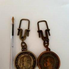 Coleccionismo de llaveros: 2 LLAVEROS CASA REAL JUAN CARLOS I Y SOFIA. Lote 119336235