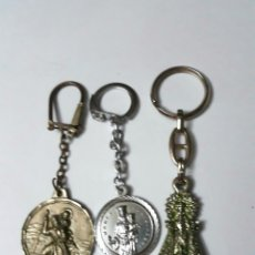 Coleccionismo de llaveros: 3 LLAVEROS RELIGIOSOS. Lote 120133439