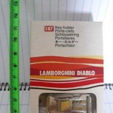 Coleccionismo de llaveros: LLAVERO METAL BBURAGO BURAGO ESCALA 1/87 LAMBORGHINI DIABLO A ESTRENAR. Lote 121757603