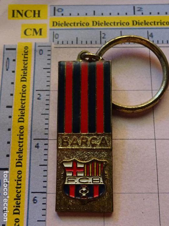 LLAVERO DE DEPORTES. FÚTBOL. FC BARCELONA. CAMP NOU. ESTADIO BANDERA  (Coleccionismo a5ac530a4f8
