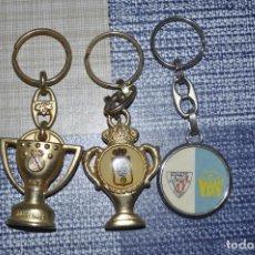 Coleccionismo de llaveros: TRES LLAVEROS. MADRID CAMPÉON DE LIGA 94-95, OVIEDO Y AT.BILBAO. Lote 131090396