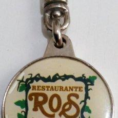 Coleccionismo de llaveros: LLAVERO..ROS, RESTAURANTE. Lote 131625282