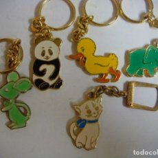 Coleccionismo de llaveros: LLAVEROS LOTE DE 5 LLAVEROS DE ANIMALES ( INFANTILES). Lote 134946630