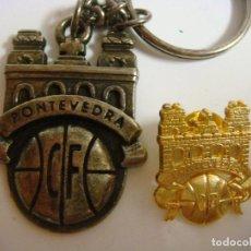 Collectionnisme de portes-clés: LLAVERO Y PINS DEL EQUIPO DE FUTBOL PONTEVEDRA (#). Lote 147041858