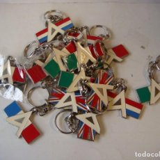 Collectionnisme de portes-clés: LIQUIDACION LOTE 20 LLAVEROS DE A BANDERAS 4 MODELOS . Lote 139878638