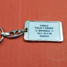 Collectionnisme de portes-clés: LLAVEROS....LLAVERO GARAGE ..FÉLIX Y CESAR....BURGOS.... Lote 142257334