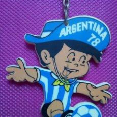 Coleccionismo de llaveros: LLAVERO MUNDIAL FÚTBOL ARGENTINA AÑO 1978 . Lote 143963290