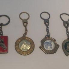 Coleccionismo de llaveros: LOTE 4 LLAVEROS TROFEOS ECUESTRES. Lote 144208266