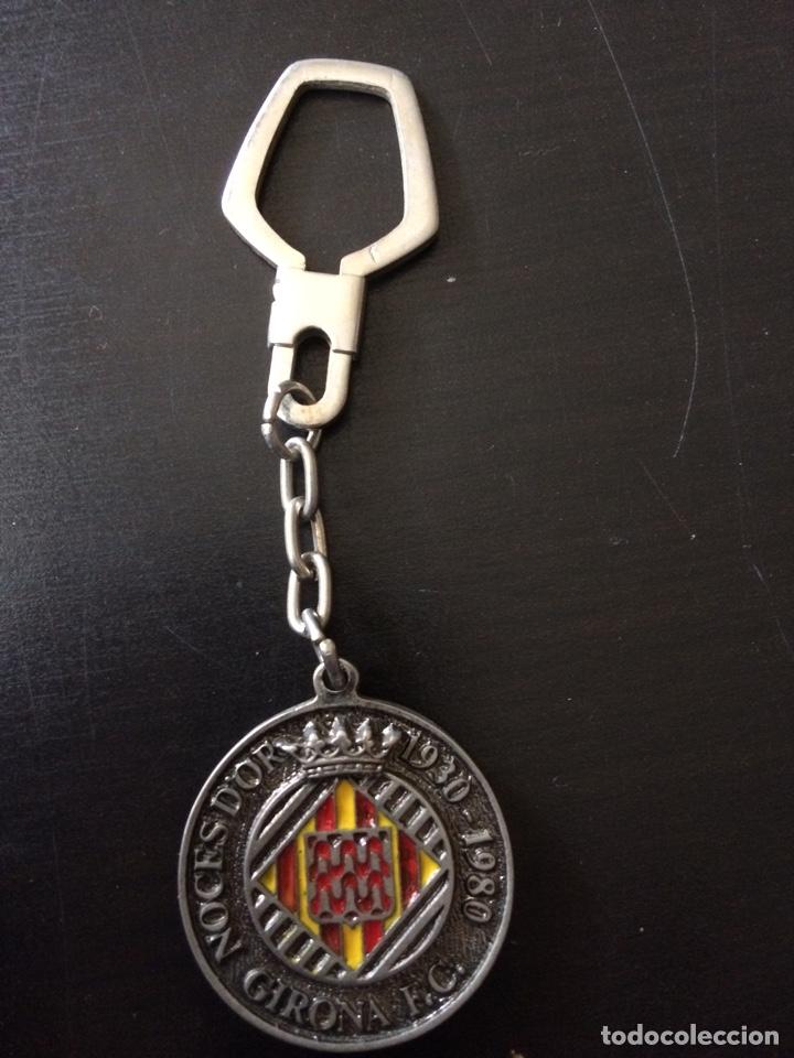 LLAVERO FULTBOL GIRONA 50 ANIVERSARIO (Coleccionismo - Llaveros)