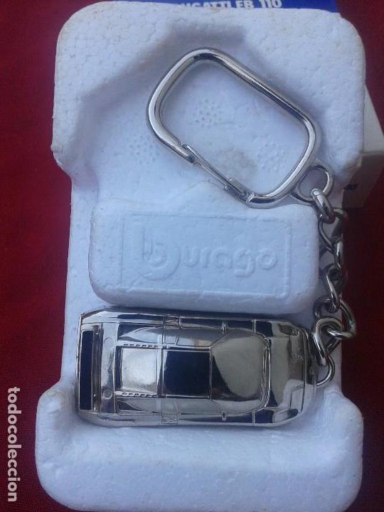 Coleccionismo de llaveros: Llavero Bugatti EB 110 , escala 1/87 ; en su caja - Foto 2 - 145618546