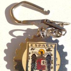 Coleccionismo de llaveros: LLAVERO ESCUDO ESPAÑA. AGUILA SAN JUAN. AÑOS 70.. Lote 145792858