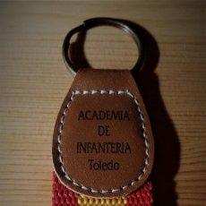 Coleccionismo de llaveros: LLAVERO ACADEMIA DE INFANTERIA DE TOLEDO BANDERA DE ESPAÑA. Lote 148120258