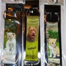 Coleccionismo de llaveros: 3 ANTIGUOS LLAVEROS CON DISEÑO DE ANIMALES . Lote 148246590