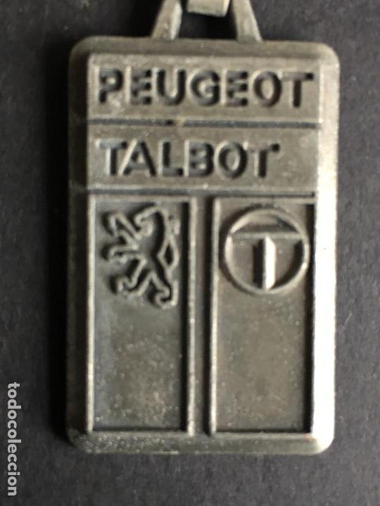 LLAVERO METALICO DE LA MARCA PEUGEOT TALBOT (Coleccionismo - Llaveros)