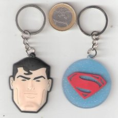 Coleccionismo de llaveros: LOTE DE 2 LLAVEROS SUPERMAN. Lote 179563036