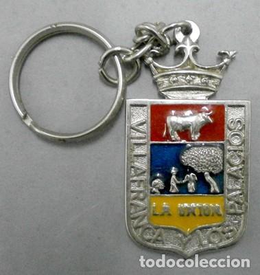 LLAVERO DE METAL VILLAFRANCA Y LOS PALACIOS LA UNION DISCOTECA DECADA 80 - LLAV-8464. B-156 (Coleccionismo - Llaveros)