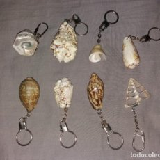 Colecionismo de porta-chaves: LLAVEROS. CARACOLAS MARINAS. LOTE 8 DIFERENTES. Lote 154859150