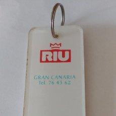 Coleccionismo de llaveros: LLAVERO DEL HOTEL RIU DE GRAN CANARIA. Lote 156037914
