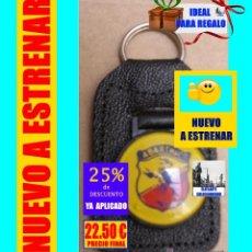 Coleccionismo de llaveros: ABARTH - SEAT / FIAT- AUTÉNTICO LLAVERO ITALIANO ORIGINAL AÑOS 70, EN CUERO - A ESTRENAR - 22.50 €. Lote 156058846
