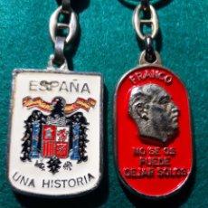 Coleccionismo de llaveros: LLAVEROS FRANCO FALANGE PIEZAS DE COLECCIONISMO)CALIDAD ANTIGUOS. Lote 156511941
