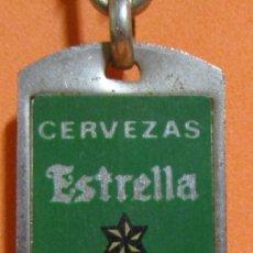 Coleccionismo de llaveros: LLAVERO CERVEZA ESTRELLA GALICIA ABRIDOR 6,5 CMS. APROX. SIN MEDIR CADENA Y CIERRE - AÑOS 70 / 80. Lote 164618102
