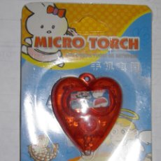 Coleccionismo de llaveros: LLAVERO LUMINOSO,MICRO TORCH,FOR MOBILE PHONE OR ANYWHERE,DORAEMON,A ESTRENAR. Lote 165411134