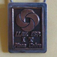 Coleccionismo de llaveros: LLAVERO DE COBRE PROCEDE DE MUESTRARIO VER IMAGENES MUY NUEVO AÑOS 70 / 80. Lote 166474346