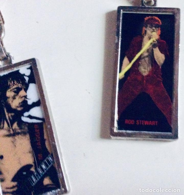 Coleccionismo de llaveros: 5 llaveros de metal con foto de MIKE JAGGER Y ROD STEWAR 11.5 x 3cm c.uno. Muy raros mirar fotos - Foto 6 - 166596598
