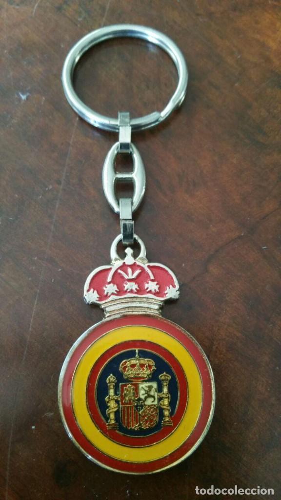 Coleccionismo de llaveros: LLAVERO PROTECCION CIVIL - REVERSO ESCUDO DE ESPAÑA - Foto 2 - 166802166