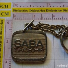 Coleccionismo de llaveros: LLAVERO DE TELEVISORES TV VIDEO HIFI SABA. Lote 167998012