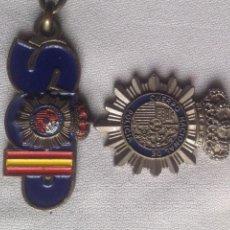 Coleccionismo de llaveros: DOS LLAVEROS ANTIGUOS POLICIA NACIONAL, SINDICATO UNIFICADO POLICÍA,. Lote 168469700