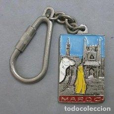 Coleccionismo de llaveros: LLAVERO DE METAL SOUVENIR DU MAROC - LLAV-9184 - B-187. Lote 195195341